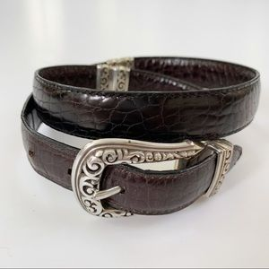 Brighton Reversible Black Brown Leather Belt M